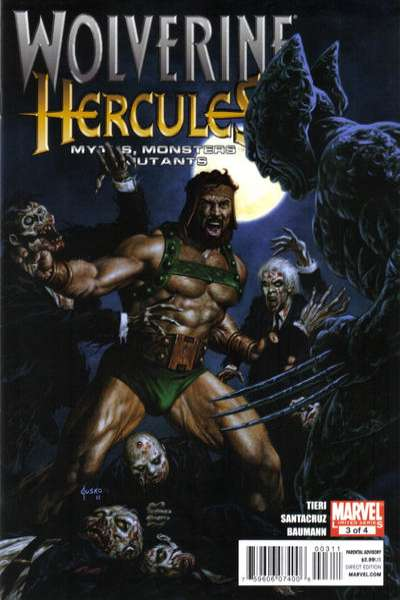 Wolverine/Hercules: Myths Monsters & Mutants #3 comic books - cover scans photos Wolverine/Hercules: Myths Monsters & Mutants #3 comic books - covers, picture gallery