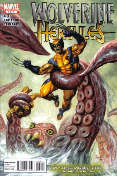 Wolverine/Hercules: Myths Monsters & Mutants #4 comic books - cover scans photos Wolverine/Hercules: Myths Monsters & Mutants #4 comic books - covers, picture gallery