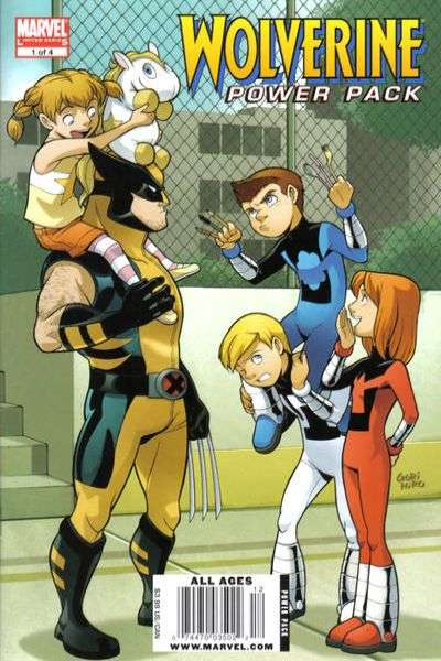 Wolverine and Power Pack comic books