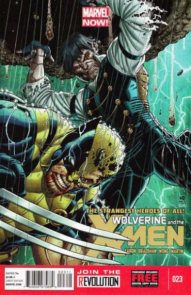 Wolverine & the X-Men #23 comic books - cover scans photos Wolverine & the X-Men #23 comic books - covers, picture gallery