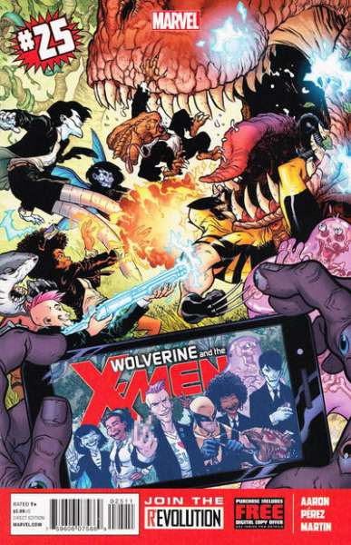 Wolverine & the X-Men #25 comic books - cover scans photos Wolverine & the X-Men #25 comic books - covers, picture gallery