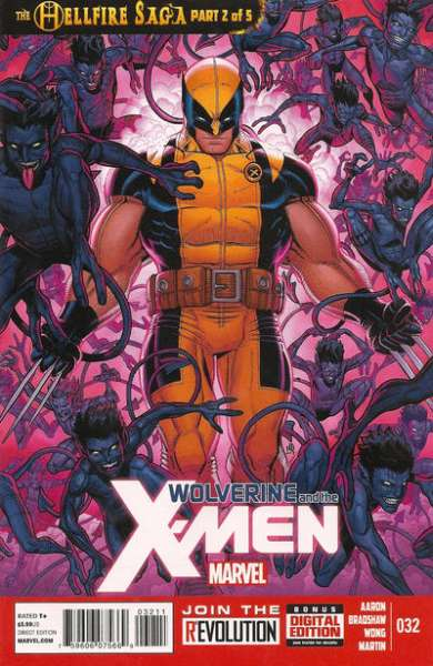 Wolverine & the X-Men #32 comic books - cover scans photos Wolverine & the X-Men #32 comic books - covers, picture gallery