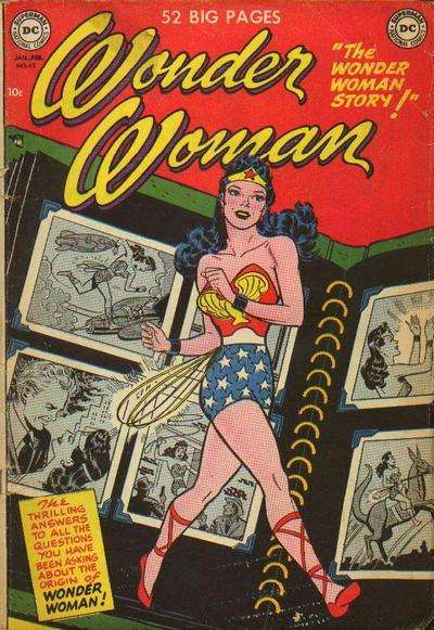 Wonder Woman #45 comic books - cover scans photos Wonder Woman #45 comic books - covers, picture gallery