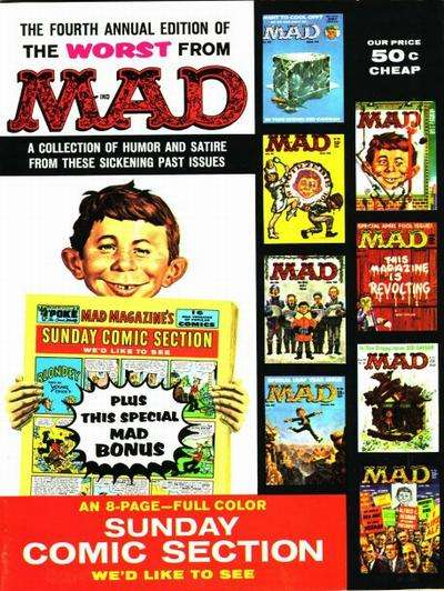 Worst From Mad #4 comic books for sale