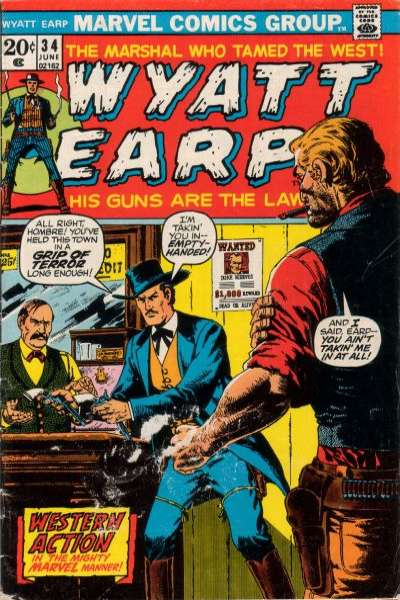 Wyatt Earp #34 comic books for sale