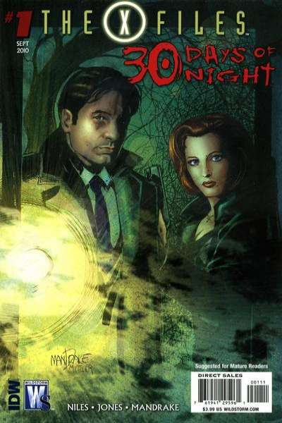X-Files/30 Days of Night comic books