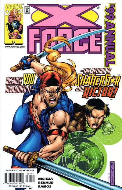 X-Force #1999 comic books for sale