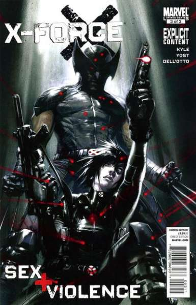 X-Force: Sex and Violence #3 comic books for sale
