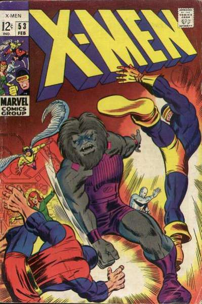 X-Men #53 cheap bargain discounted comic books X-Men #53 comic books