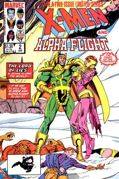 X-Men/Alpha Flight #2 comic books - cover scans photos X-Men/Alpha Flight #2 comic books - covers, picture gallery