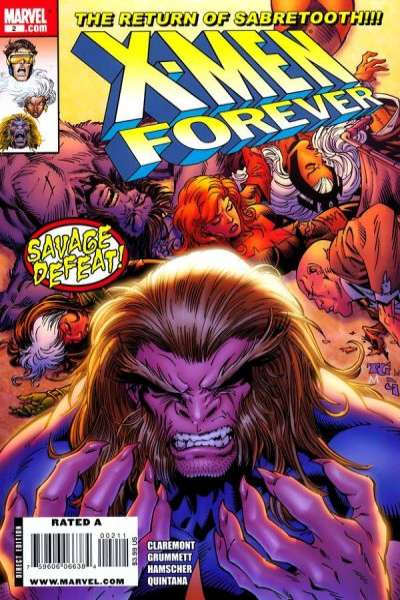 X-Men Forever #2 comic books - cover scans photos X-Men Forever #2 comic books - covers, picture gallery