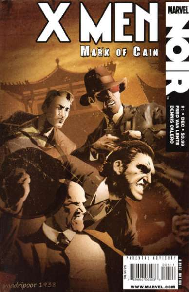 X-Men Noir: Mark of Cain #1 Comic Books - Covers, Scans, Photos  in X-Men Noir: Mark of Cain Comic Books - Covers, Scans, Gallery