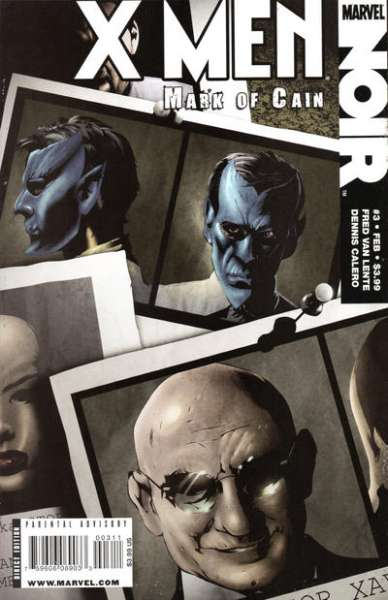 X-Men Noir: Mark of Cain #3 comic books - cover scans photos X-Men Noir: Mark of Cain #3 comic books - covers, picture gallery