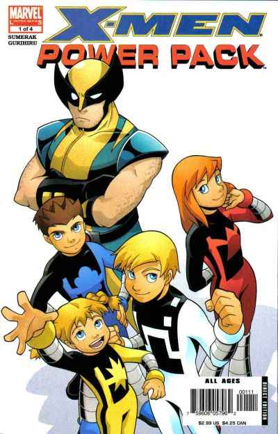 X-Men and Power Pack comic books