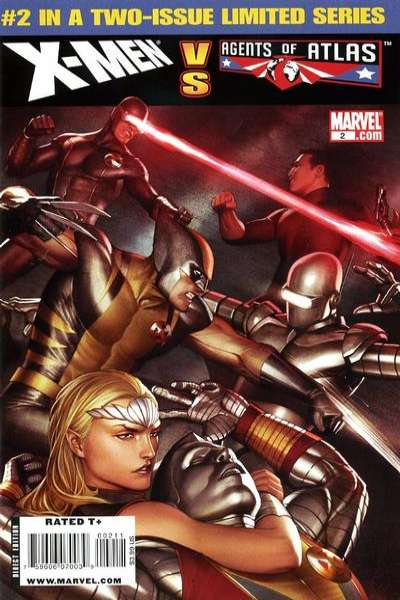 X-Men vs. Agents of Atlas #2 comic books - cover scans photos X-Men vs. Agents of Atlas #2 comic books - covers, picture gallery