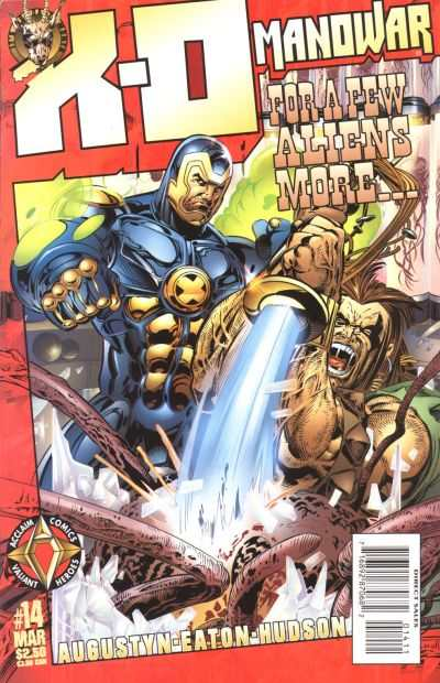X-O Manowar #14 Comic Books - Covers, Scans, Photos  in X-O Manowar Comic Books - Covers, Scans, Gallery