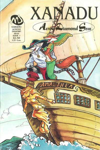 Xanadu: Across Diamond Seas #1 comic books - cover scans photos Xanadu: Across Diamond Seas #1 comic books - covers, picture gallery