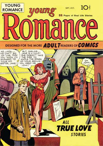 Young Romance comic books