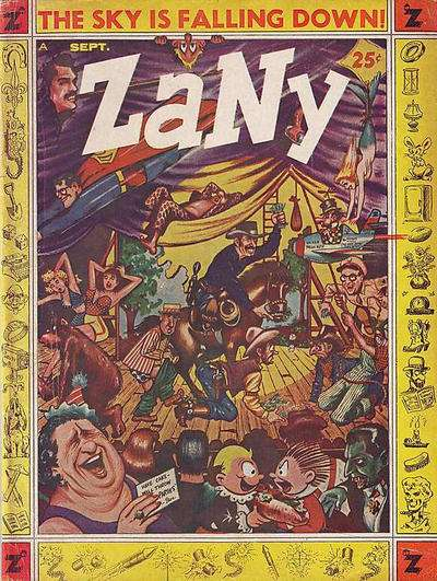 Zany comic books