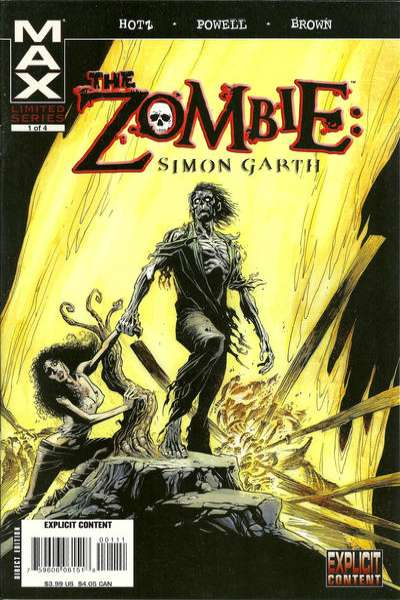 Zombie: Simon Garth comic books