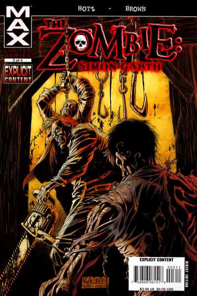 Zombie: Simon Garth #3 comic books - cover scans photos Zombie: Simon Garth #3 comic books - covers, picture gallery