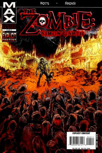 Zombie: Simon Garth #4 comic books for sale