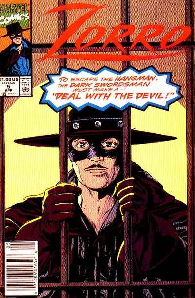 Zorro #5 comic books - cover scans photos Zorro #5 comic books - covers, picture gallery