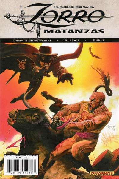 Zorro Matanzas #3 comic books for sale