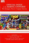 Avengers Thor & Captain America: Official Index to the Marvel Universe #3 comic books for sale