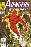 Avengers West Coast #50 comic books - cover scans photos Avengers West Coast #50 comic books - covers, picture gallery
