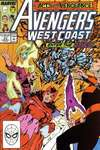 Avengers West Coast #53 comic books - cover scans photos Avengers West Coast #53 comic books - covers, picture gallery