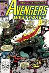 Avengers West Coast #54 comic books - cover scans photos Avengers West Coast #54 comic books - covers, picture gallery