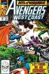 Avengers West Coast #55 comic books - cover scans photos Avengers West Coast #55 comic books - covers, picture gallery