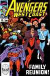 Avengers West Coast #57 comic books - cover scans photos Avengers West Coast #57 comic books - covers, picture gallery