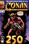 Conan the Barbarian #250 comic books - cover scans photos Conan the Barbarian #250 comic books - covers, picture gallery