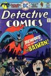Detective Comics #451 comic books - cover scans photos Detective Comics #451 comic books - covers, picture gallery