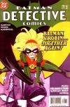 Detective Comics #796 comic books - cover scans photos Detective Comics #796 comic books - covers, picture gallery