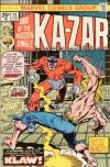 Ka-Zar #14 Comic Books - Covers, Scans, Photos  in Ka-Zar Comic Books - Covers, Scans, Gallery